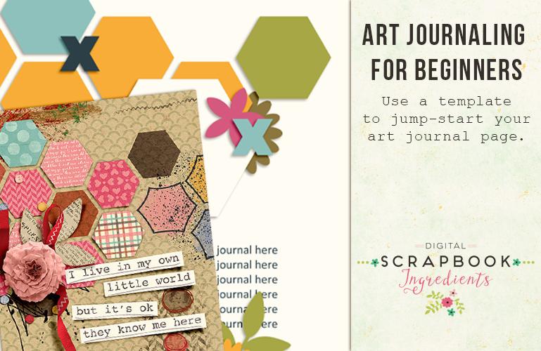 Art Journaling: Using Templates