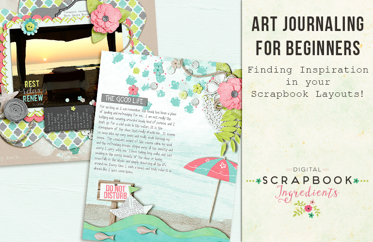 Art Journaling: Scrapbook layouts as inspiration