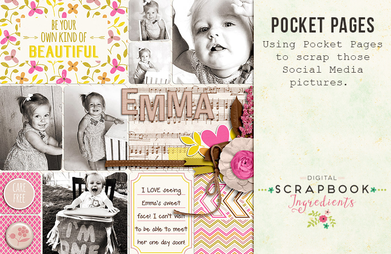 Pocket scrapbooking: Social media pictures