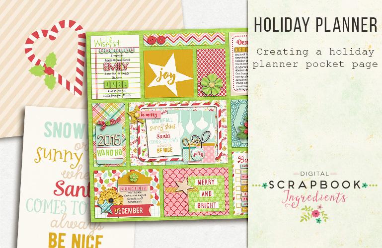 Pocket scrapbooking: Holiday planner