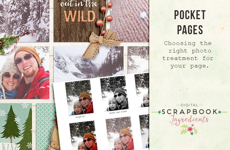 Pocket scrapbooking: Photo treatment
