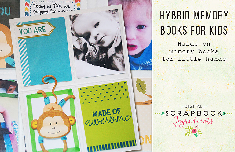 Hybrid memory books for kids