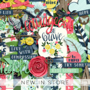 New - Be Brave - Digital Scrapbook Ingredients
