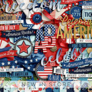 New - 4th of July - Digital Scrapbook Ingredients