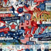 New - 4th of July - Digital Scrapbook Ingredients