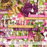 New - Bloom and Grow - Digital Scrapbook Ingredients