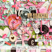 New - True Love - Digital Scrapbook Ingredients