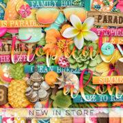 New - Tropical Vibes - Digital Scrapbook Ingredients
