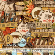 New - Day At The Zoo - Digital Scrapbook Ingredients