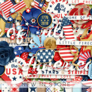 New - Stars And Stripes - Digital Scrapbook Ingredients