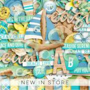 New - Seaside Serenity - Digital Scrapbook Ingredients