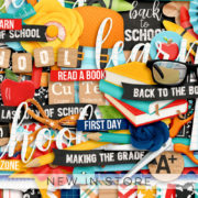 New - Back To School - Digital Scrapbook Ingredients