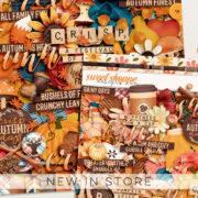 New - Cozy Crisp Autumn - Digital Scrapbook Ingredients