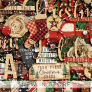 New - Country Christmas - Digital Scrapbook Ingredients