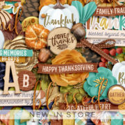 New - So Thankful - Digital Scrapbook Ingredients