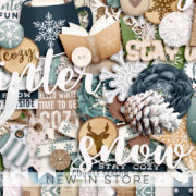 New - Cozy Winter Days - Digital Scrapbook Ingredients