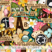 New - Rustic Easter - Digital Scrapbook Ingredients