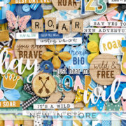 New - Soar And Roar - Digital Scrapbook Ingredients