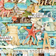 New - At The Shore - Digital Scrapbook Ingredients