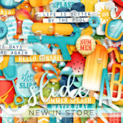 New - Keping Cool - Digital Scrapbook Ingredients