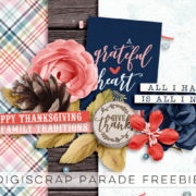 Free - Gratitude - Digital Scrapbook Ingredients