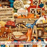 New - Harvest Happenings - Digital Scrapbook Ingredients