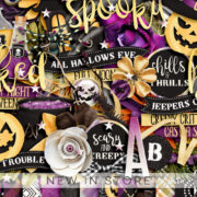 New - Spooky Halloween - Digital Scrapbook Ingredients