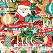New - Christmas Is In The Air - Digital Scrapbook Ingredients