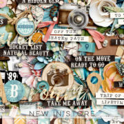 New - Wanderlust - Digital Scrapbook Ingredients