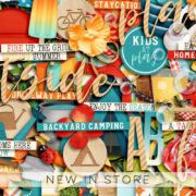 New - Backyard Activities - Digital Scrapbook Ingredients