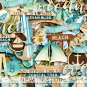 New - Coastal - Digital Scrapbook Ingredients