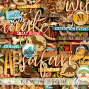 New - Wild and Magical - Digital Scrapbook Ingredients